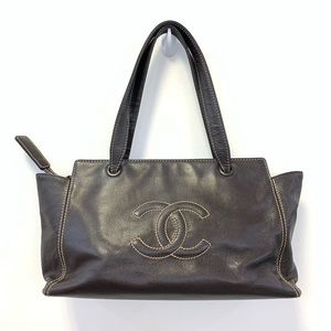 CHANEL brown tote